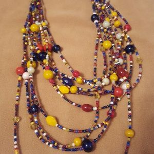 Jewelry - Multi Colored Beaded Necklace!